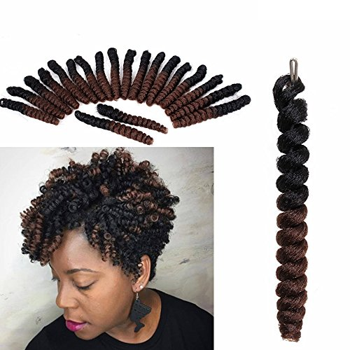 3 Packs Eunice Hair Curlkalon Toni Curl Synthetik Ombre Flechten Haar Zöpfe Gratis Haken Geschenk Kanakalon Crochet Zöpfe Bouncy Gelockt Toni Locken 20 Roots/Pack (20 inch, 1B 30)