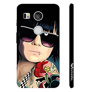 Google Nexus 5X COOL TATTOO GIRL designer mobile hard shell case by Enthopia
