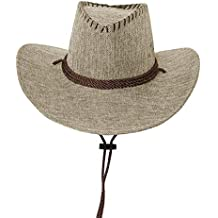 tomobile Sombrero Occidental Sombrero Australiano Sombrero de Texas Brown 70fe7c9f327