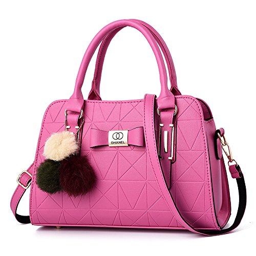 Umhängetasche - Wild Air Tote Bag Stilvolle, Schlichte Damen-Umhängetasche Rose Red