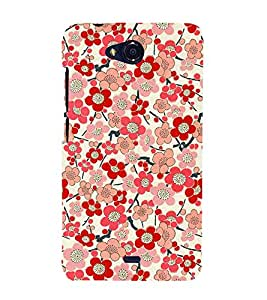 Bloomy Flowers 3D Hard Polycarbonate Designer Back Case Cover for Micromax Bolt Q335