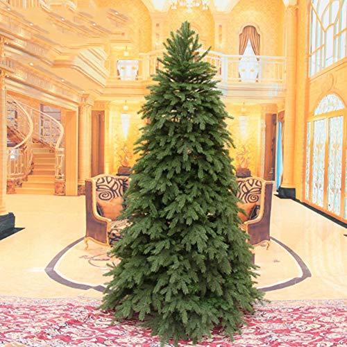 Xiaomei lusso artificiale albero natale pino alta qualità gamba in metallo pvc su assemblaggio facile crittografia coperta all'aperto porta a battente(verde)-d 240cm(94inch)
