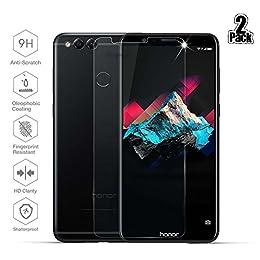 [2-Paquetes] Huawei Honor 7X Protector de Pantalla, Beyeah Vidrio Templado con[9H Dureza] [Alta Definición] [Garantía de por vida] para Huawei Honor 7X