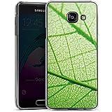 Samsung Galaxy A3 (2016) Housse Étui Protection Coque Feuille Plante Vert