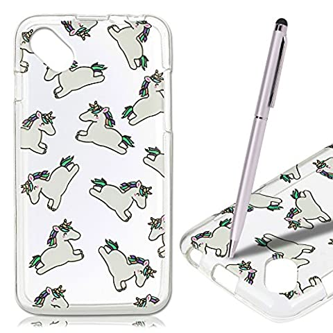 Coque Wiko Sunset 2 , Wiko Sunset 2 Etui , CaseLover Cheval Motif Mode Etui Coque TPU Slim pour Wiko Sunset 2 (4.0 pouces) Mode Flexible Souple Soft Case Couverture Housse Protection Anti rayures Mince Transparent Silicone Cover Fashion Fin Stylet - Animaux