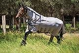 Horseware Rambo Fly Buster Vamoose Couverture d'extérieur pour cheval Écru/noir