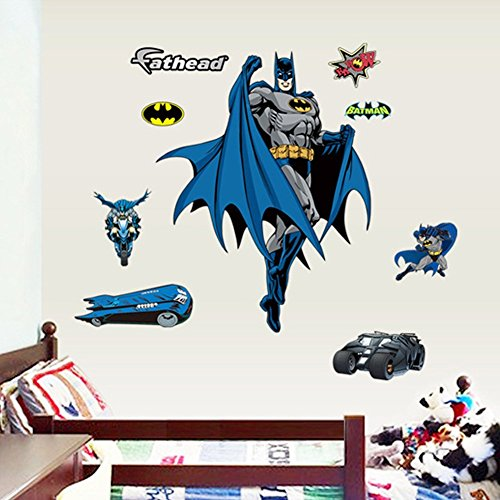 Latest Batman Wall Stickers Children Boys Bedroom Decal art Mural D  cor. Batman Wallpaper  Amazon co uk