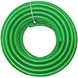 """TechnoCrafts PVC Braided Water Hose For Plumbing 15 Meter (50 Feet) 1/2"""" (0.5 Inch Or 12.5mm) Bore Size - 3 Layered Hose Pipe"""