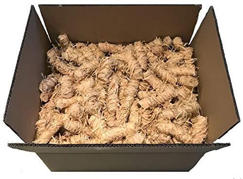 Bioanzünder 6 kg ca. 400 Stk.- Holzwolle 100{d2dd437ac938fa9628bab8bcba6e32ef06e06c6a343175ea71881868136e33df} Naturprodukt - Deutsches Qualitätsprodukt aus Holz & Wachs
