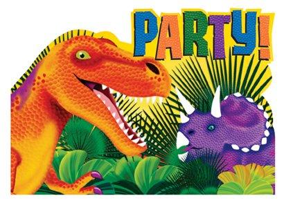 """Tarjetas de invitación """"dinosaurio parte, 8pcs"""