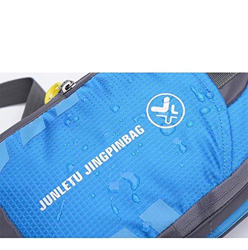 zaino Confezione toracica Panno in nylon Superficie morbida jogging equitazione Arrampicata su roccia A piedi sportivo Borsa a tracolla Confezione toracica Sacchetto del messaggero , Blue Blue