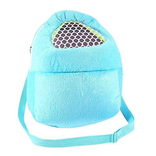 PET Tragetaschen Hamster Ratten Igel Kaninchen Schlafsack Breathable Portable Ausgehenden Reise Handtaschen Backpack Mit Schulterriemen ( Farbe : Blue ) (Hamster Tasche)