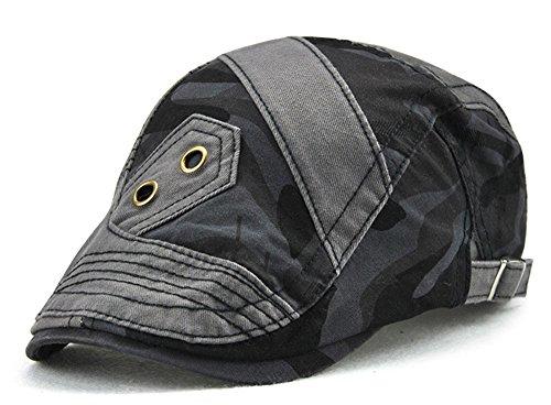 nung Flatcap Sommer Outdoor Einstellbar Newsboy Cabbie Driving Duckbill Beret Hat Gray ()