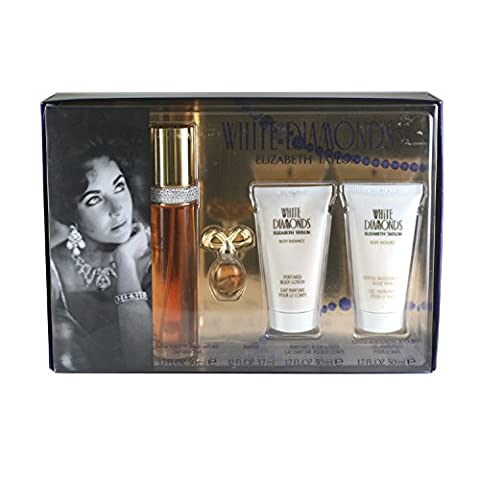 White Diamonds For Women By Elizabeth Taylor 4 Pc. Gift Set
