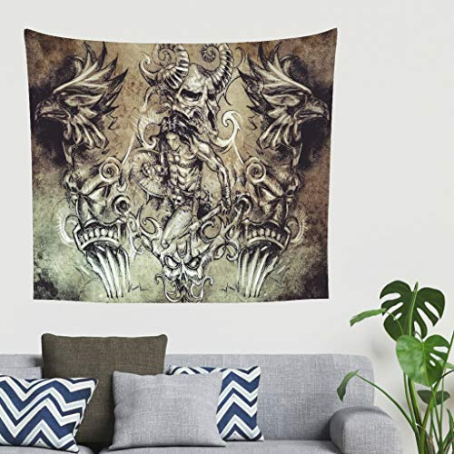 Wikinger Antike Mythologie Wandteppiche Tapestry Psychedelisch Tapisserie Wandtuch Hippie Wall...