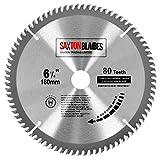 Saxton TCT Circular Holz-Sägeblatt, 160mm x 20mm, 80 Zähne, für Festool TS55, Bosch, Makita, Dewalt, passt auf 165mm Lochsägen
