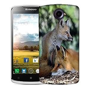 Snoogg Family Fox Designer Protective Phone Back Case Cover For Lenovo S920