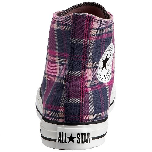 Converse, Casual unisex adulto Viola (Purple Plaid)