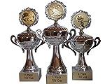 RaRu 3er-Serie Sportpokale mit Gravur+ Wunschemblem. Für über 50 Sportarten verfügbar.
