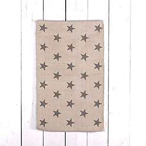 tapis toile beige en coton 50 x 80 cm tapis de lit gris avec motif toile. Black Bedroom Furniture Sets. Home Design Ideas