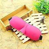 WanJiaMen'Shop Schatten Schlaf Maske 3D Schutzbrillen Schatten Schlafbrille Keine Spur, Rose Rot