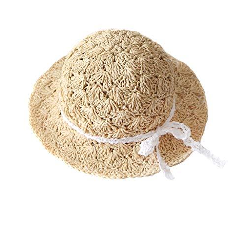 r Kinder Mädchen Bogen Reise Böhmischen Hüte Vintage Sommer Hüte Strand Sun Hat Baby Gril Retro Basin Caps Sonnenhut Strandhut Sommerhut Outdoor Kappe ()