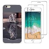 Hülle Für 6 Plus / 6s Plus Katze Tiger wechseln Weich TPU Silikon Anti-Scratch Schutzhülle Handyhülle Backcover Für Apple iPhone 6 Plus 6s Plus 5.5