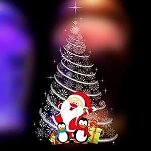 MMM Auto - Scene adesivo parete autoadesivi di vetro Adesivi Negozio Centri Commerciali Decorazione per finestra layout albero di Natale