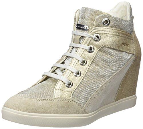 Geox Damen D Eleni C Hohe Sneaker Beige (Lt Taupe/Lead)
