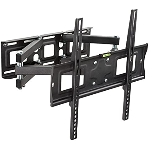 TecTake Soporte de pared para TV de pantalla planta, inclinable y giratorio VESA 400x400 máximo 70kg 66-140 cm (26