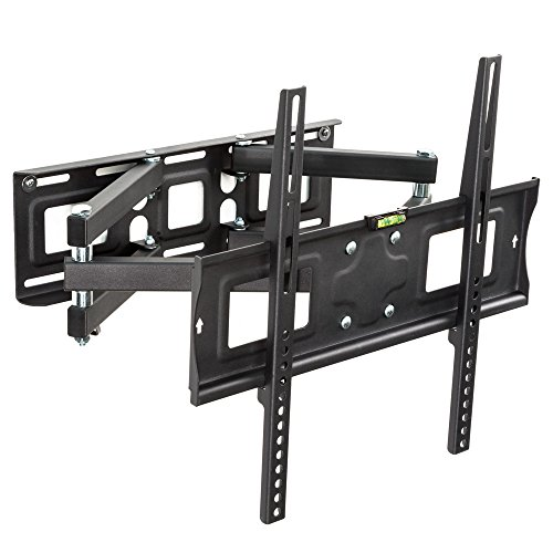 "TecTake Soporte de pared para TV de pantalla planta, inclinable y giratorio VESA 400x400 máximo 70kg 66-140 cm (26"" - 55"")"