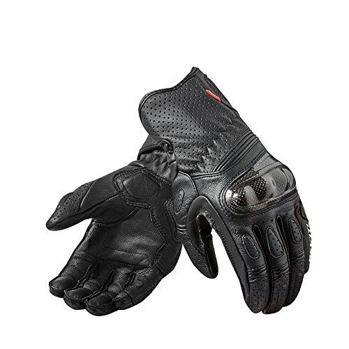 Price comparison product image FGS118 - 3050-XL - Rev It Chevron 2 Ladies Leather Motorcycle Gloves XL White Black
