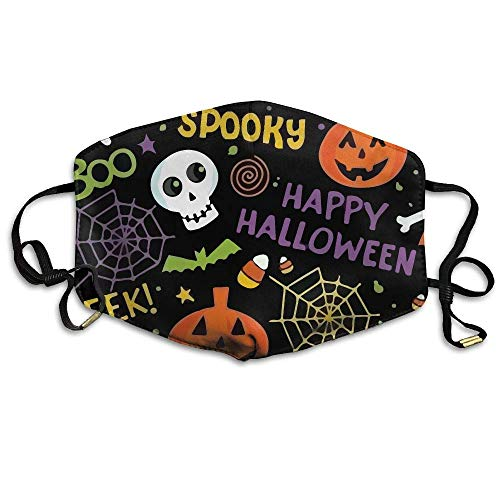asken, Earloop Face Mouth Masks Dustproof Anti-flu Warm Dust Mask Washable Women Beautiful Halloween ()