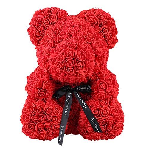 Prosperveil Künstliche Blumen in Teddybär-Form, 38,1 cm scharlachrot