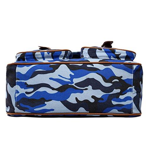 Miss Borsa Camouflage tracolla Blue a unica donna Taglia Lulu Pr4wHP