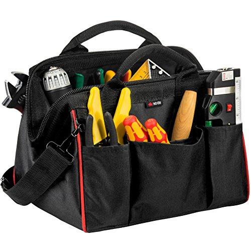 NoCry Werkzeugtasche, 30 cm - tragbare, multifunktionale Transporttasche zur Aufbewahrung von Werkzeugen, 20 Innen-/Außentaschen, hochbeanspruchbarer 600D-Canvas, verstellbarer Schultergurt