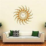 SYGA Orange Sun Design Wall Clock Sticke...