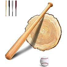 PLUSINNO 28 Pulgadas Bate de béisbol con béisbol y mango de goma (Madera)