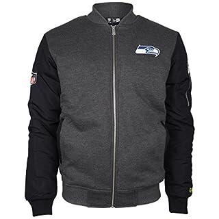 New Era - NFL Seattle Seahawks Fleece Bomber Jacke - Grey Farbe Grey, Size XL
