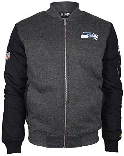 New Era - NFL Seattle Seahawks Fleece Bomber Jacke - Grau-Blau Größe M
