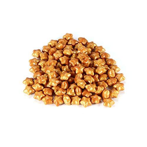 Houkiper 100 Stücke Sternform Dichtwachs Perlen für Wachs Stempel Dokumente Abdichtung (Gold) -