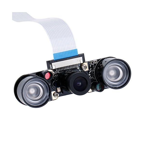 51wQHybXZKL. SS600  - Zacro Módulo de Cámara con Sensor Cámara de Vídeo de HD Soporte Visión Nocturna para Raspberry Pi 3 Modelo B B + A + RPi 2 1 Cámara SC15
