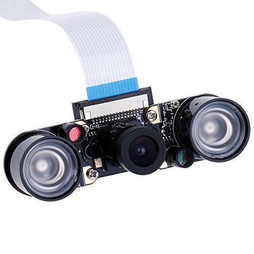 51wQHybXZKL - Zacro Módulo de Cámara con Sensor Cámara de Vídeo de HD Soporte Visión Nocturna para Raspberry Pi 3 Modelo B B + A + RPi 2 1 Cámara SC15
