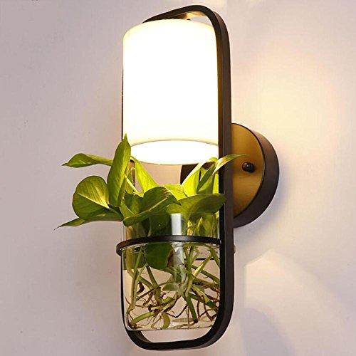 DENG OOFAY Light® Appliques Moderne Pots de Fleurs Verre LED Abat-Jour Intérieur Chevet Éclairage Fixation Balcon