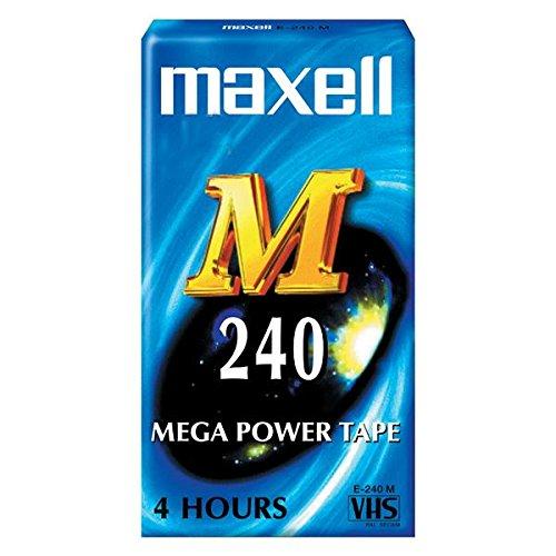 Videocassetta Cassetta vergine VHS Maxell 240 min 4 ore