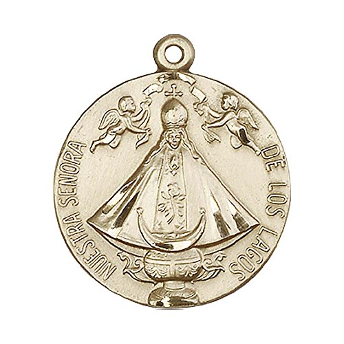 14ct-gold-senora-de-los-lagos-medal-includes-deluxe-flip-top-gift-box-medal-pendant-measures-1-x-7-8