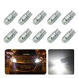 FEZZ 10pcs CANBUS Ampoules LED T10 3030 2SMD Feux de position Plaque Lampe Lecture Auto Voiture Intérieur Blanc