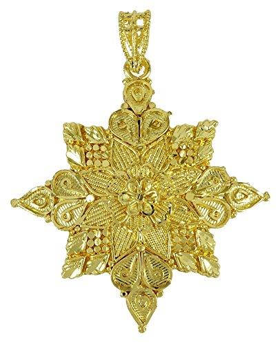 Banithani etnica goldplated indiano nuove donne creatore ciondolo gioielli tradizionali, fede, colore: or (conception #2), cod. bsp107a