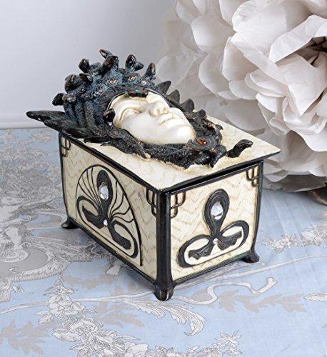 MYSTISCHE SCHMUCKDOSE GORGO Medusa in SCHLANGENKRONE Palazzo Exclusiv