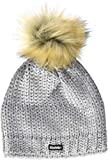 Eisbär Kinder Folina Lux Mütze, hellgraumele-Silber-Folie, 55